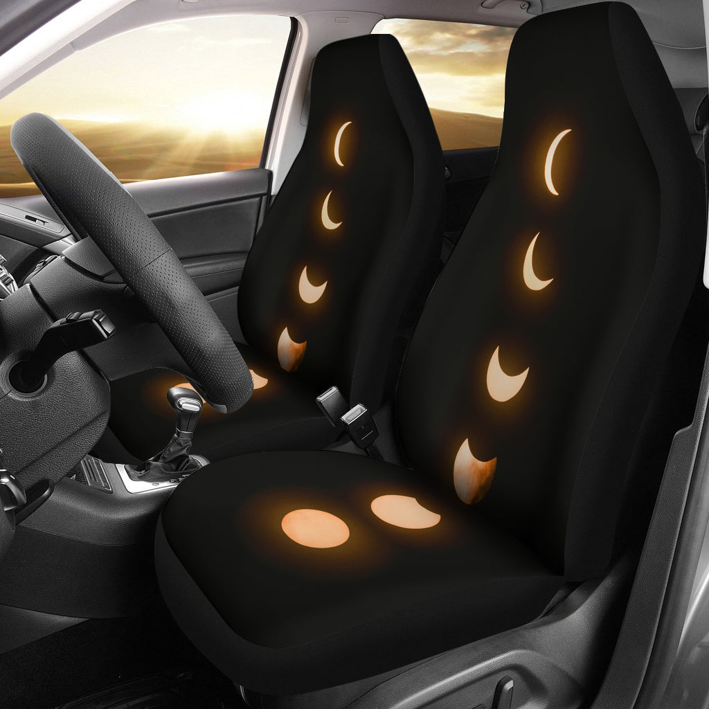 Phases of the Moon Car Seat Covers