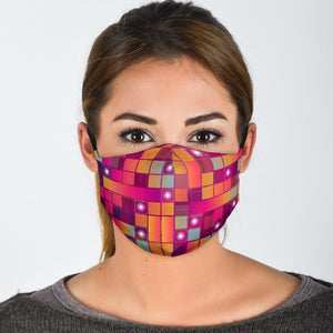 Pink Cubes Face Mask