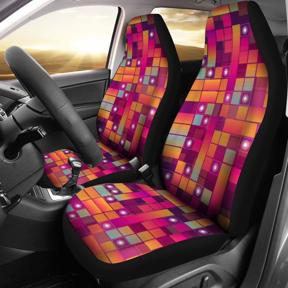 Pink Cubes Car Seat Covers