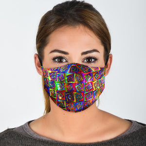 Rainbow Squares Face Mask
