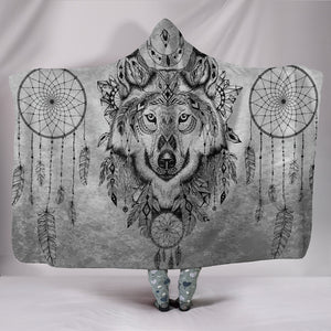 Boho Wolf Hooded Blanket
