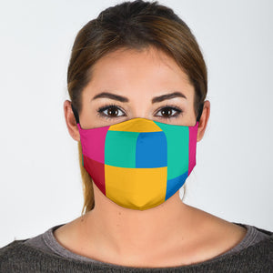 Colored Tiles Face Mask