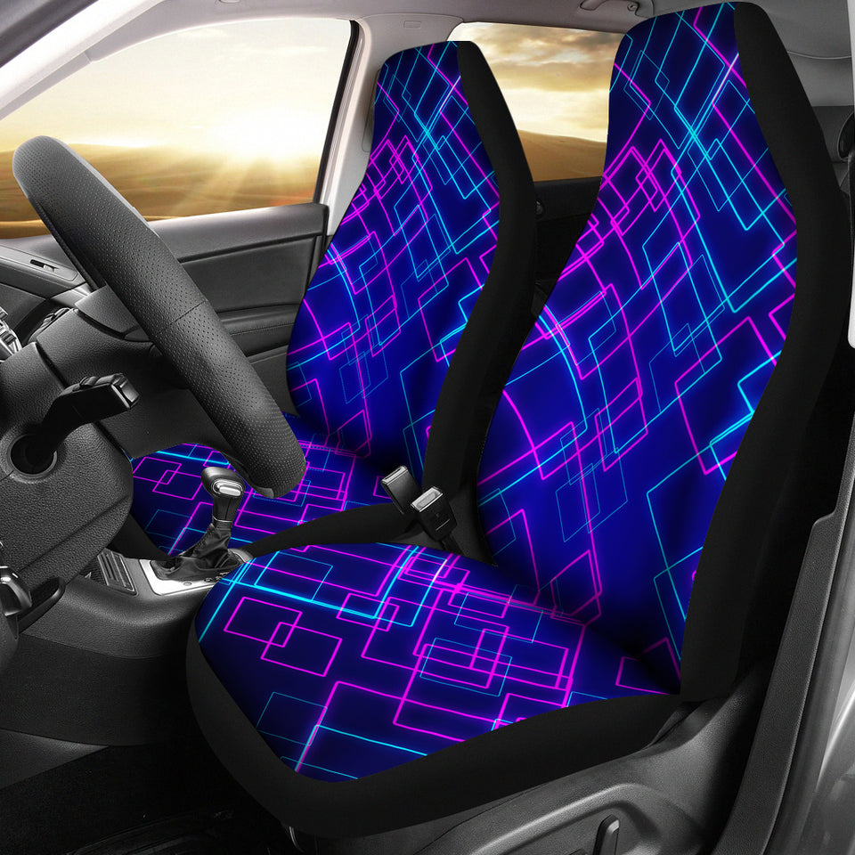 Neon Lights Car Seat Covers