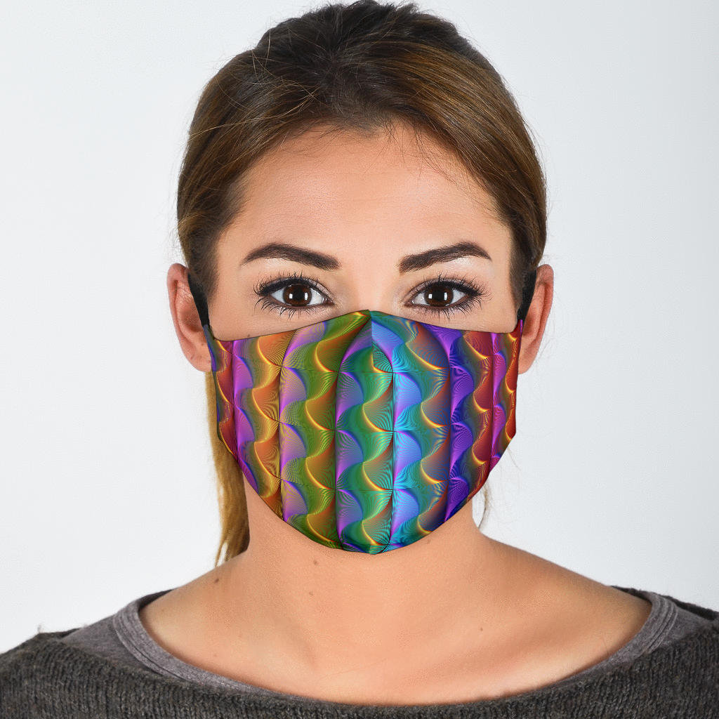 Rainbow Swirls Face Mask