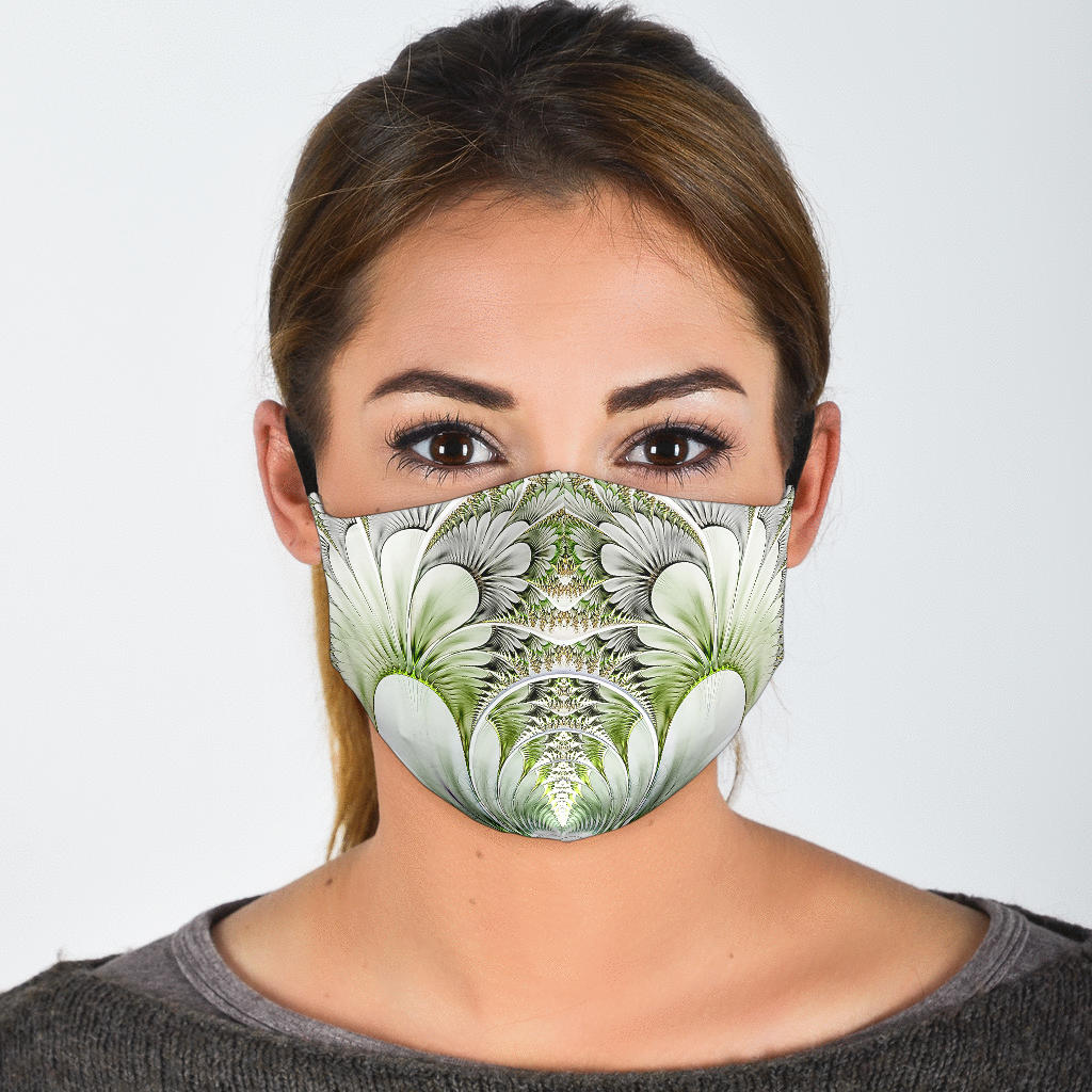 White Feather Mirror Face Mask