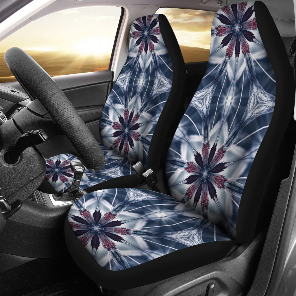 Ice Blue Mandala Car Seat Covers