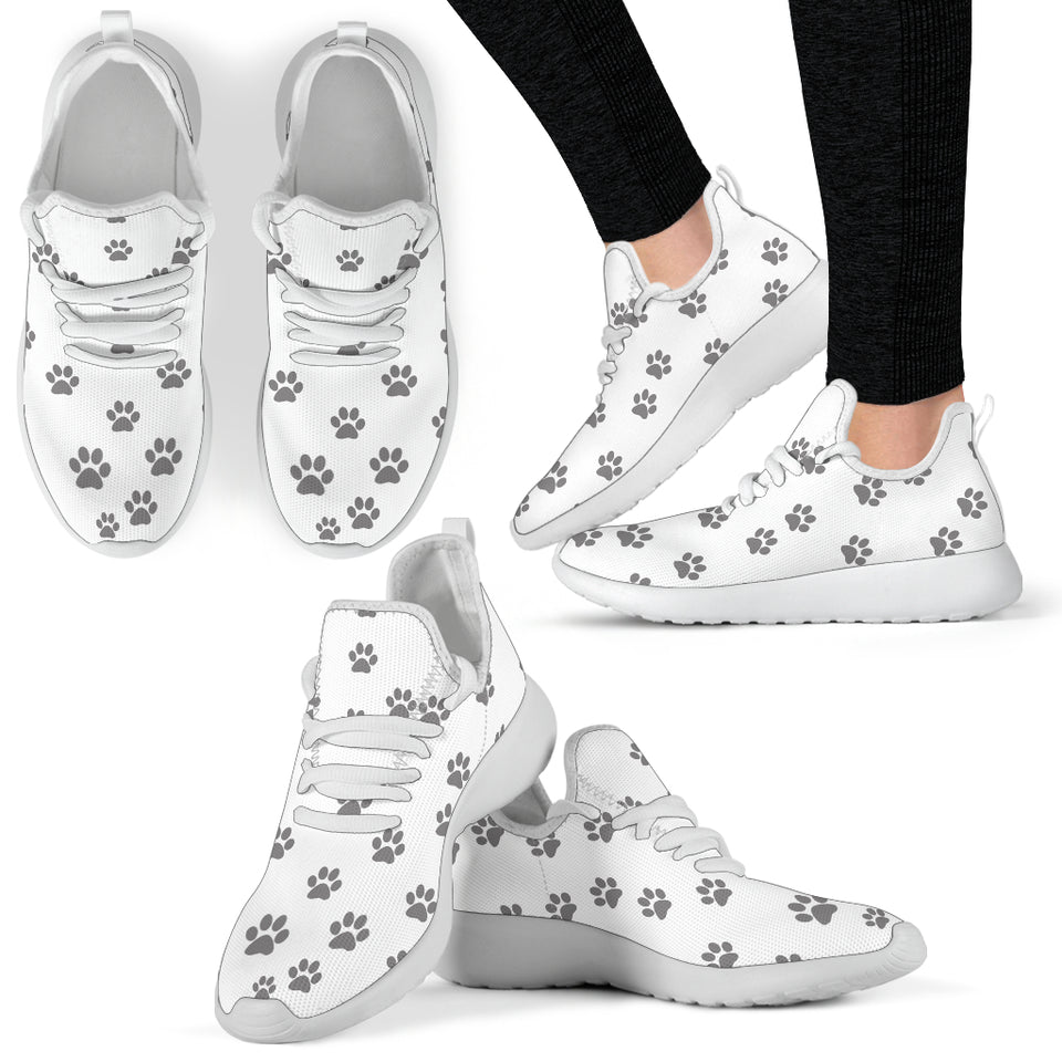 Paw Print White Sneakers