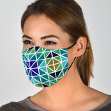 Aqua Mosaic Face Mask