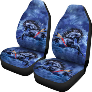 Blue Horse Car Seat Covers