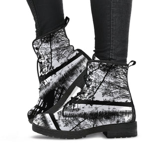 Black White Forest Boots