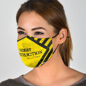 Under Construction Face Mask