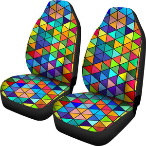 Colorful Mosaic Car Sat Covers
