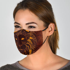 Tribal Lion Face Mask