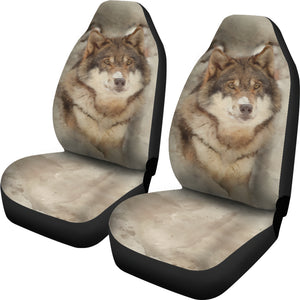 Snow Wolf Car Seat Covers