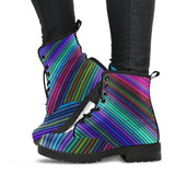 Psychedelic Striped Boots
