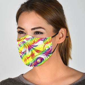 Rainbow Waves Face Mask
