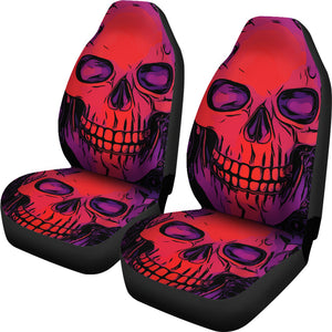 Neon Skull Car Seat Covers