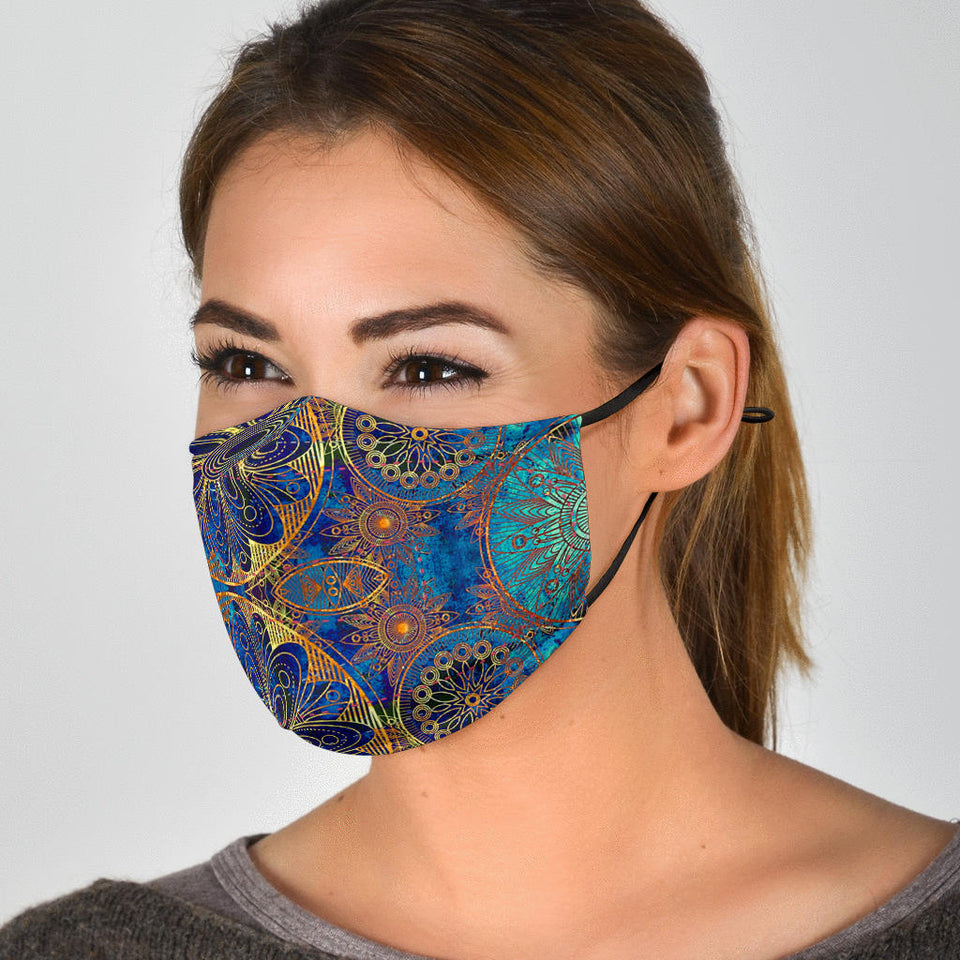 Blue Gold Face Mask