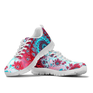 Red Blue Fractal Sneakers