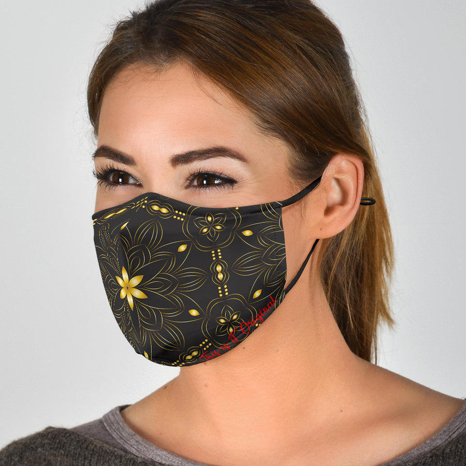 Gold Mandala Face Mask