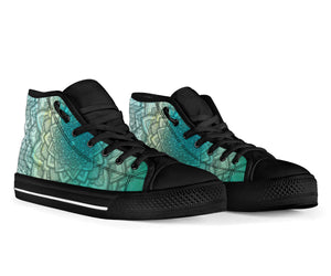 Aqua Mandala High Tops