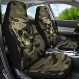 Camo Skull Car Seat Covers