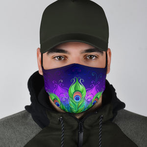 Cool Peacock Face Mask