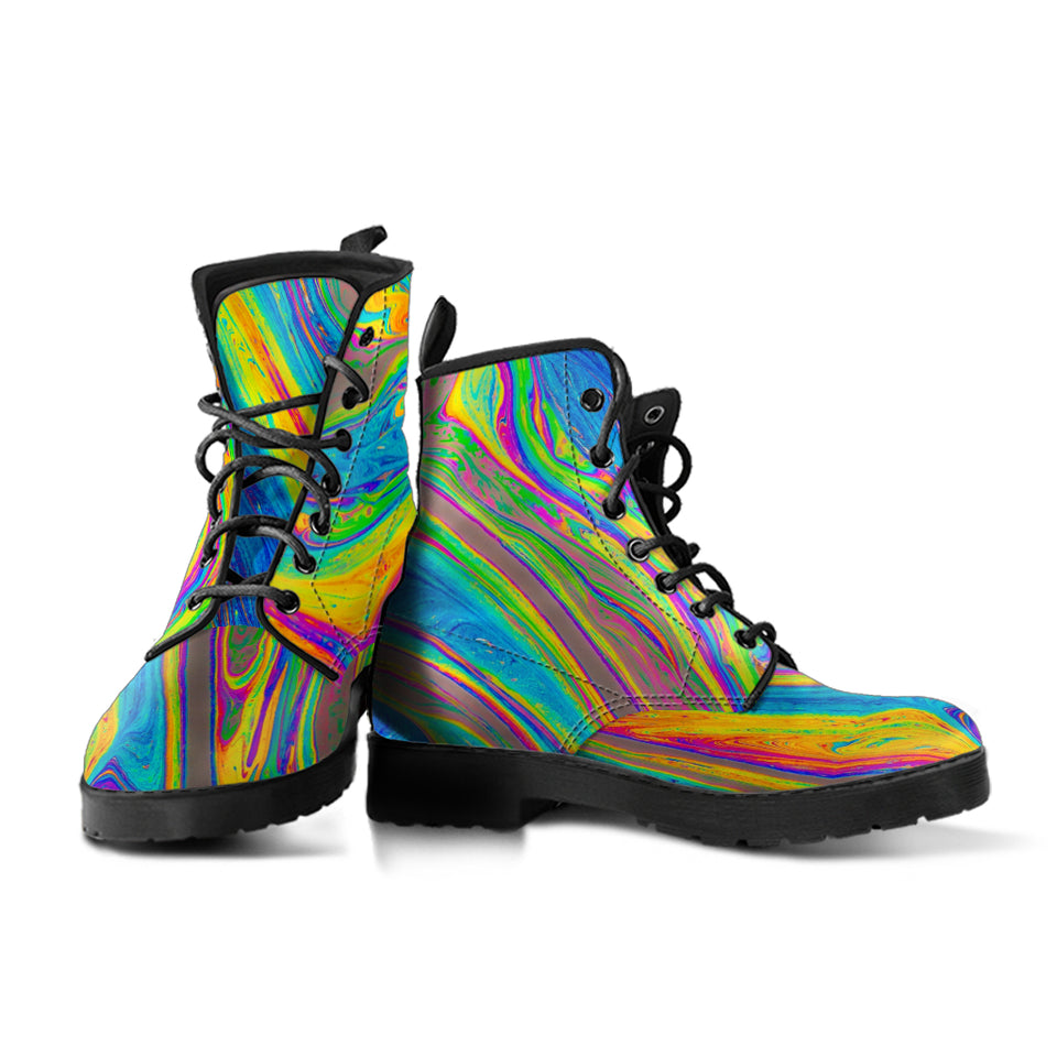 Colorful Swirl Boots