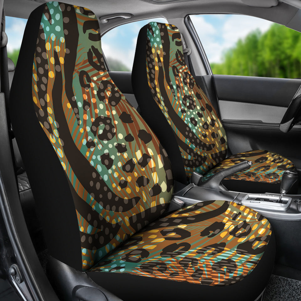 Abstract Leopard Car Seat Covers