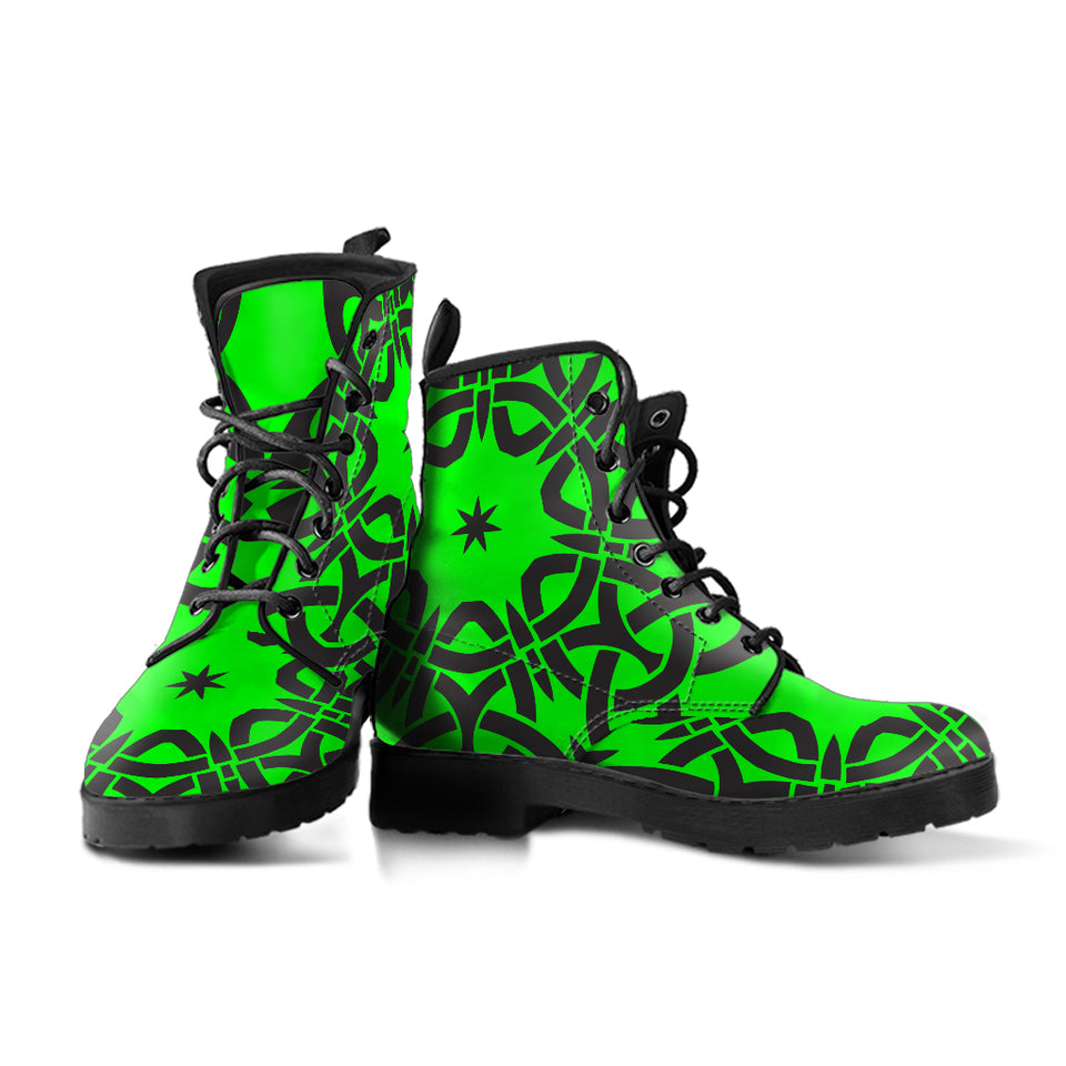 Green Tribal Boots