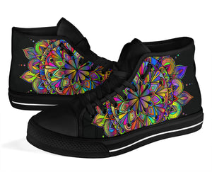Rainbow Mandala High Tops