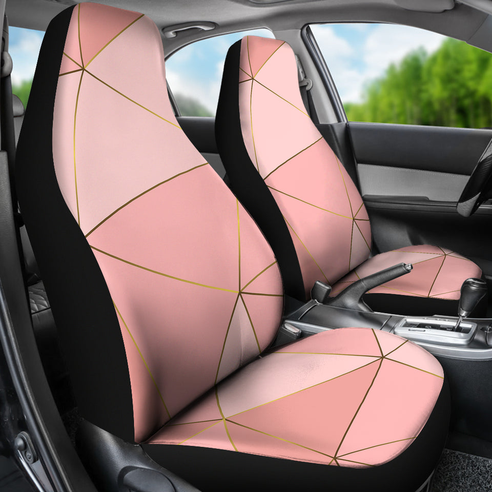 Pink Marble Car Seat Covers
