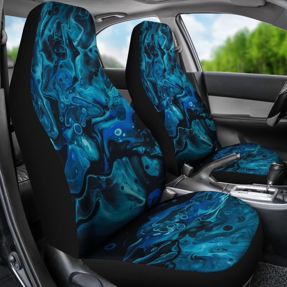 Blue Waves Car Seat Covers