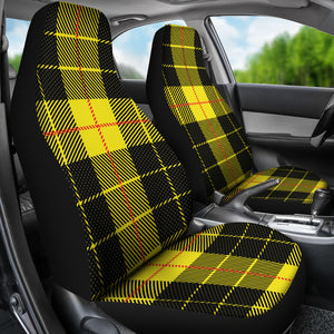 Yellow Plaid Car Seat Covers