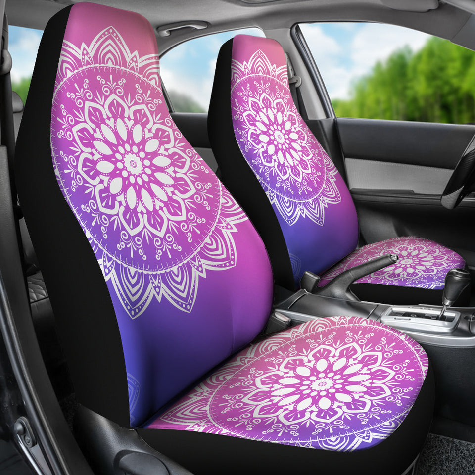 Violet Mandala Car Seat Covers