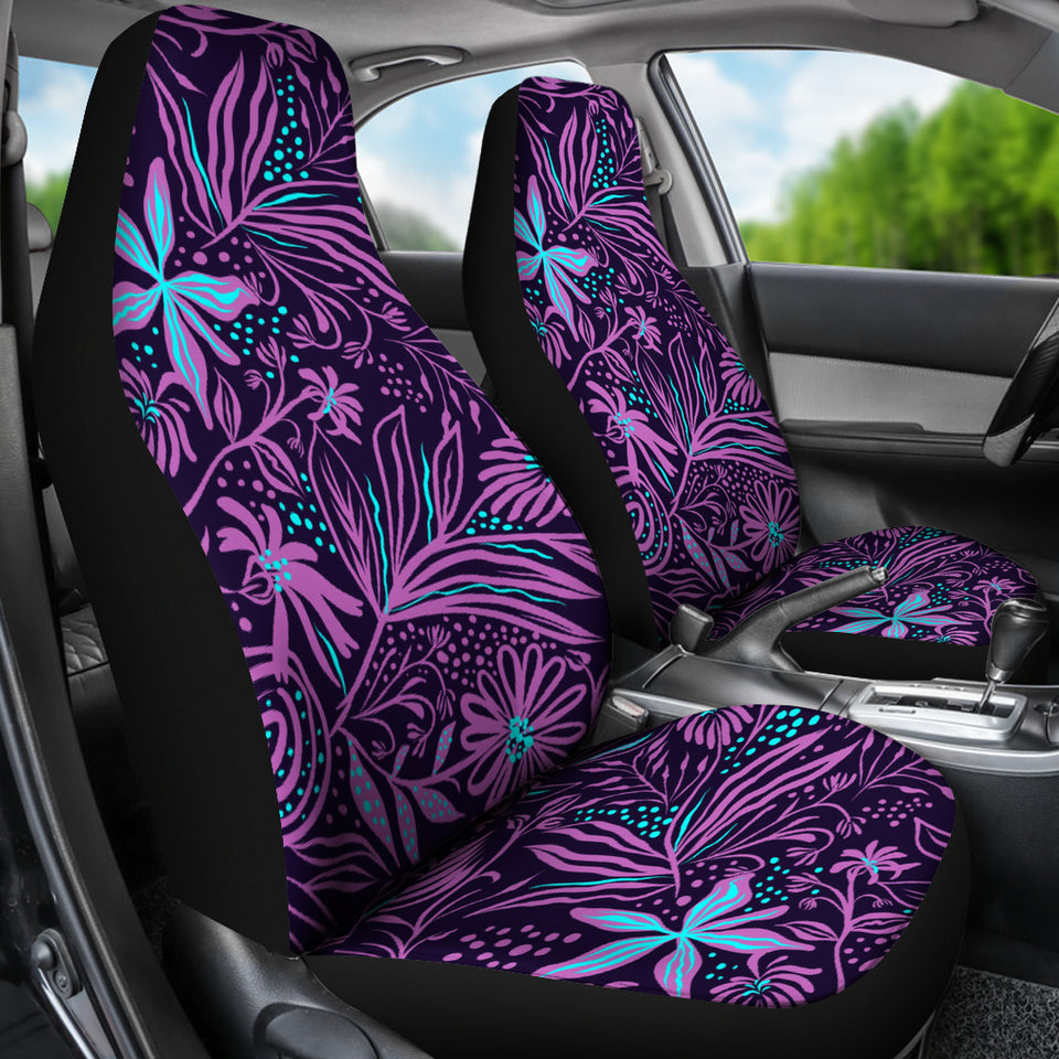 Purple Jungle Car Seat Covers