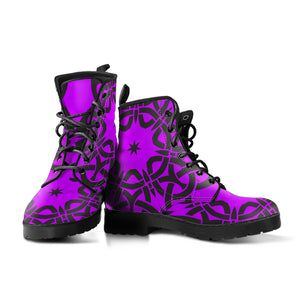 Violet Tribal Boots