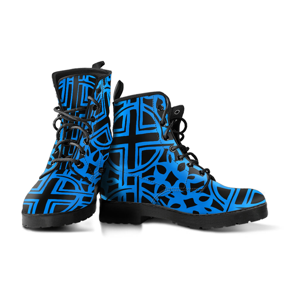 Blue Celtic Boots