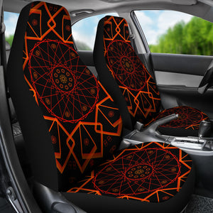 Electric Mandala Car Seat Covers