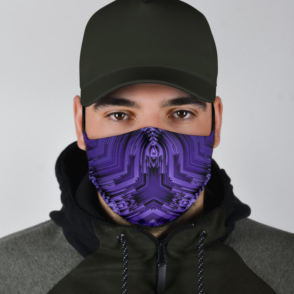 Purple Fractal Face Mask