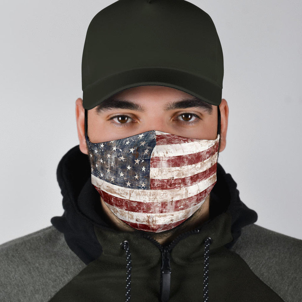 USA Flag Face Mask Vintage