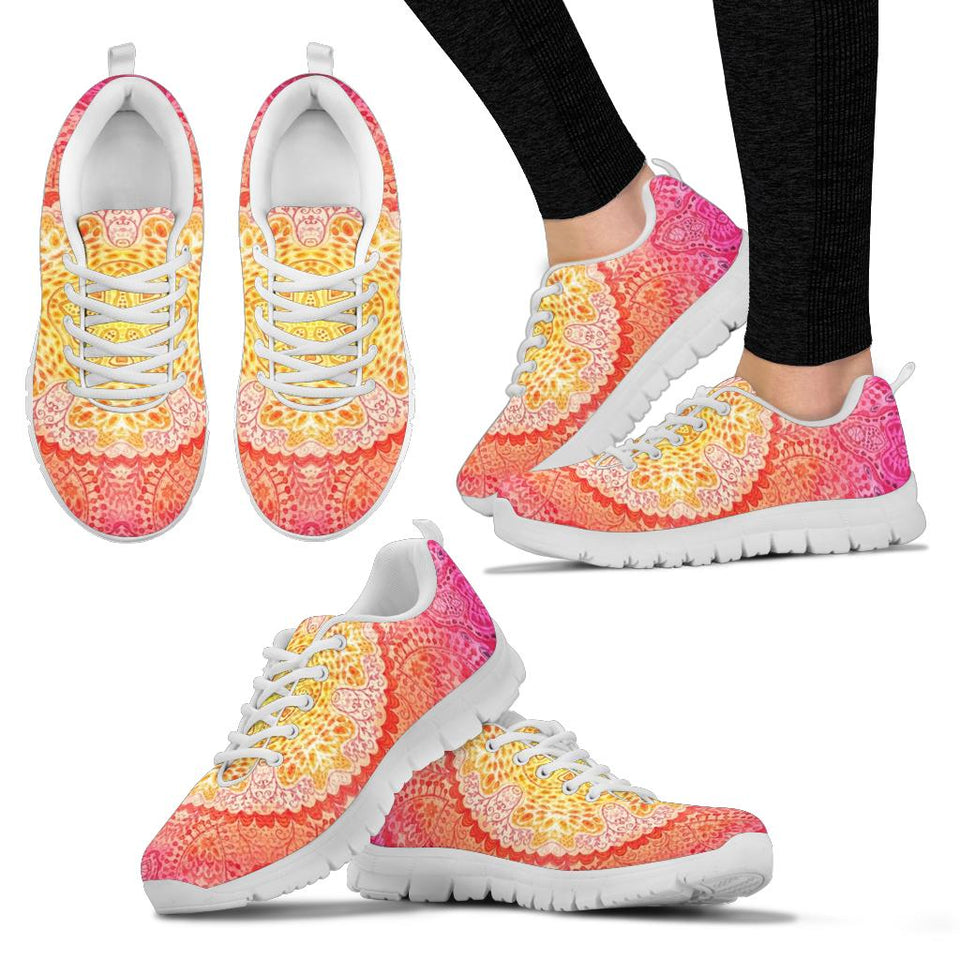 Peachy Mandala Sneakers
