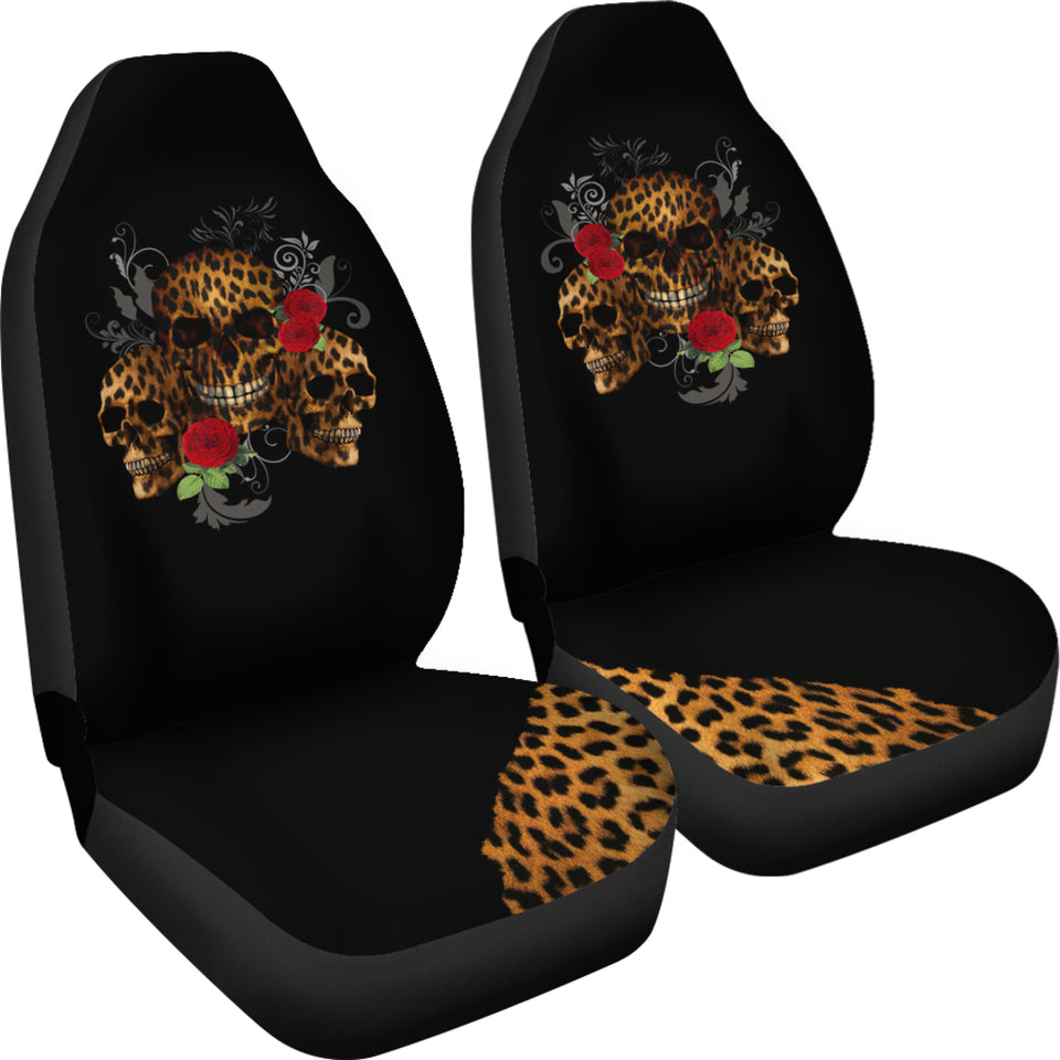 Leopard Skull Car Seat Covers