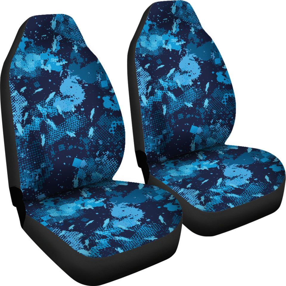 Blue Camo Car Seat Covers