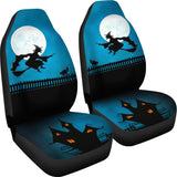 Haunted Halloween Witch Car Seat Covers