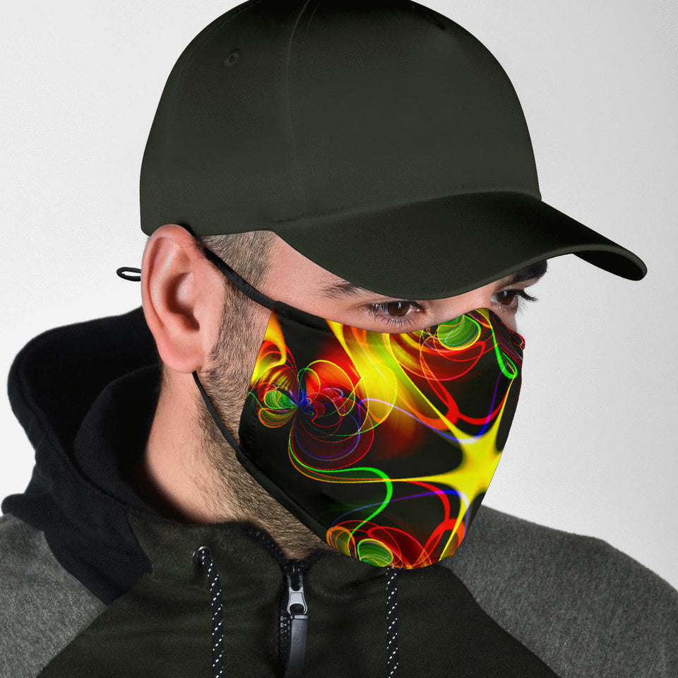 Neon Flames Face Mask