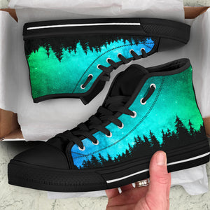 Turquoise Woods High Tops