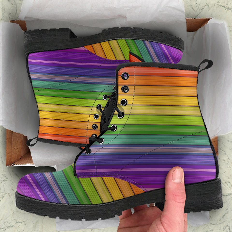 Rainbow Wall Leather Boots