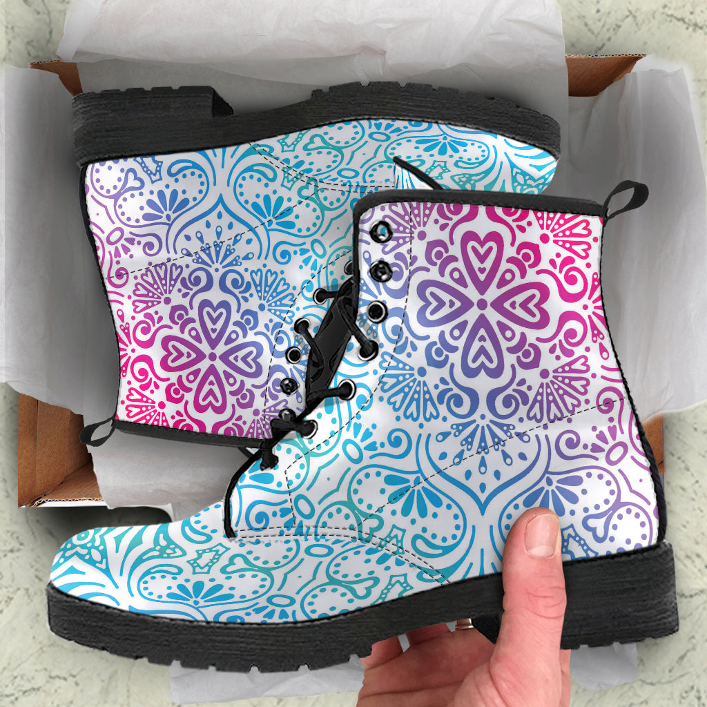 Floral Mandala leather Boots