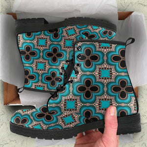 Kaleidoscopic Pattern Boots